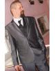 Esküvői slim fit fazonú öltöny-Fényes Szürke