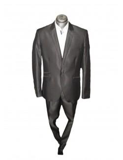 Slim karcsúsított egy-gombos öltöny-Fényes Fekete