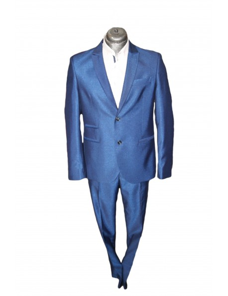 Slim Karcsúsított fazonú öltöny-Fényes Kék