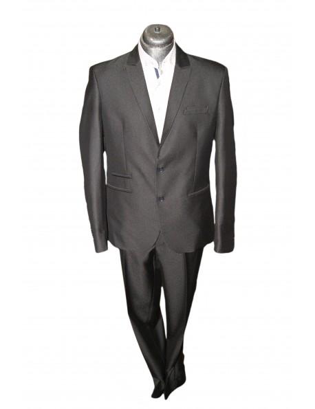 Slim Karcsúsított fazonú öltöny- Csíkos Fekete