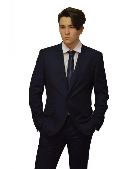 Ballagási Slim Fit öltöny- Fekete és Kék színben