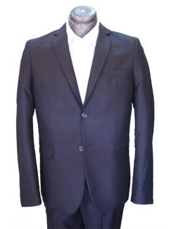ÚJ Slim karcsúsított fazonú öltöny-Fényes Fekete