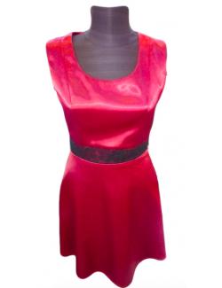 Női egyrészes csipke ruha-Bordó