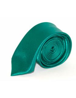 Slim Szatén nyakkendő - Tűrkízzöld