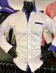 Daniel Vio Premium Slim Fit ing-Fehér Kék betétes