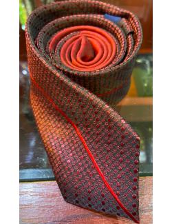 Goldenland slim nyakkendő-Bordó Mintás